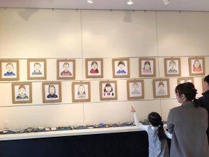 卒園児の肖像画展(2017.2.23〜28)