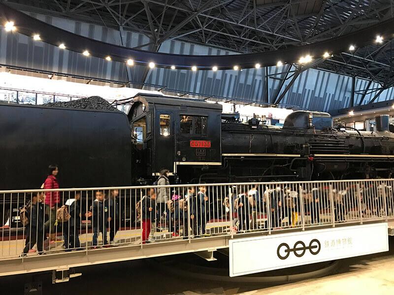 鉄道博物館に遠足
